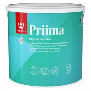 Tikkurila Priima - Глубокоматовая  интерьерная краска для стен и потолков